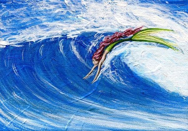 Mermaid-Surfing-Sunset-Beach
