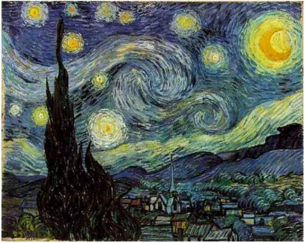 Starry-Night 1889 Vincent van Gogh